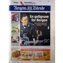 DIARIO BERGENS TIDENDE - 23 JULIO 2012 - NORUEGA - BRUCE PORTADA + 5 PAG.
