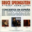 """LUCKY TOWN (LIVE) - 7"""" PS PROMO ESPAÑA 1993"""