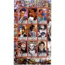 SELLOS ORIGINALES DJIBOUTI - BRUCE + 8 ARTISTAS - 2011