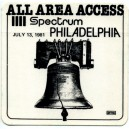 BACKSTAGE ORIGINAL PHILADELPHIA 1981 ALL AREA ACCESS