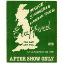 BACKSTAGE ORIGINAL STAFFORD 1981 AFTER SHOW ONLY