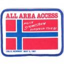 PARCHE OSLO, NORUEGA, 5 MAYO 1981 - THE RIVER TOUR 2016