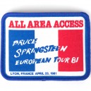 PARCHE LYON, FRANCIA, 23 ABRIL 1981 - THE RIVER TOUR 2016