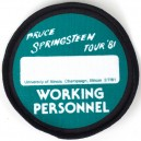 PARCHE WORKING PERSONNEL, ILLINOIS 2 JULIO 1981 - THE RIVER TOUR 2016