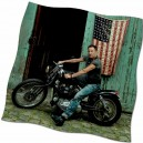 20% Oferta - BANDERA BRUCE SPRINGSTEEN - POSE MOTO - FOTO DANNY CLINCH
